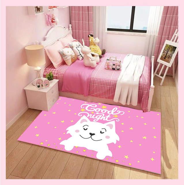 The princess pink carpet antiskid crawl cartoon kids room rugs and carpet  unicorn decoration bedroom area rug Cute tapete