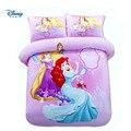 Disney princess king полный размер постельных принадлежностей набор Королевское Одеяло Твин Дети 100% хлопок дети пододеяльник Микки Маус мальчик Лен