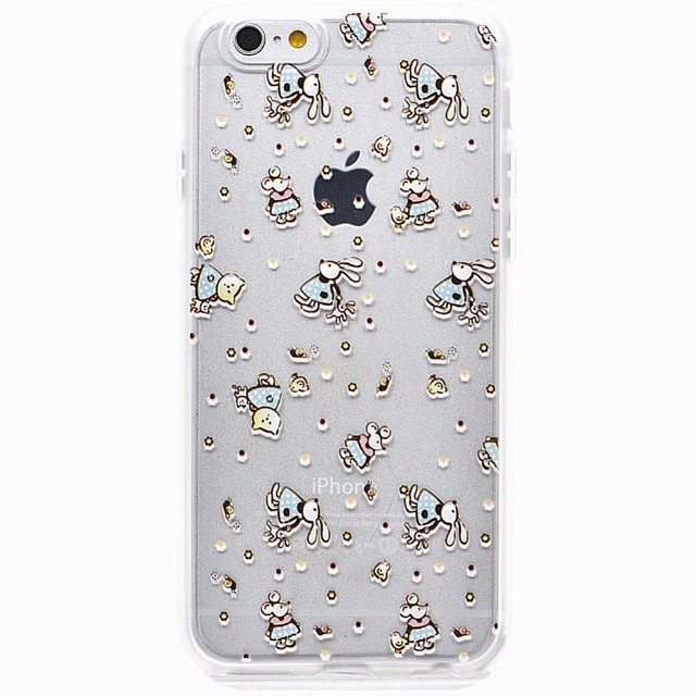 For Iphone 6 6plus Cute Cat And Mouse Fancy Pattern Phone Back Cover