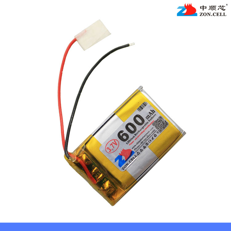 In the 600mAh 402030*3 3.7V polymer battery <font><b>122030</b></font> alarm recorder Rechargeable Li-ion Cell image