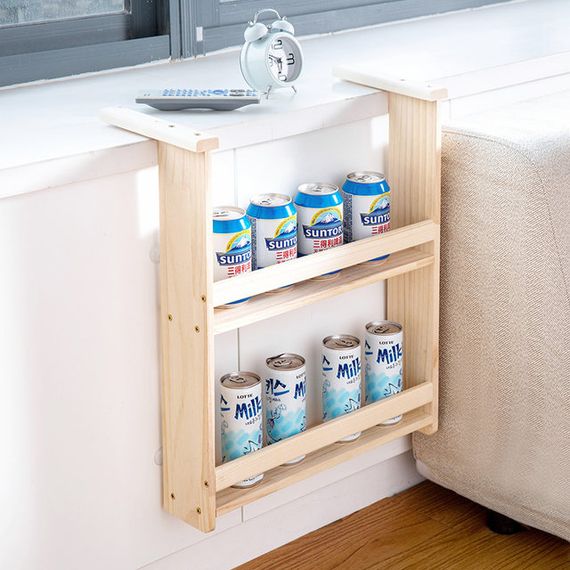 Online Shop Legno massello frigoriferi side-appesi rack mensole da ...