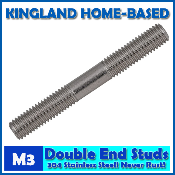 все цены на M3 Double End Studs 304 Stainless Steel Double End Thread Tight Adjustable Push Rod Stud Screw Bolt Silver Ton
