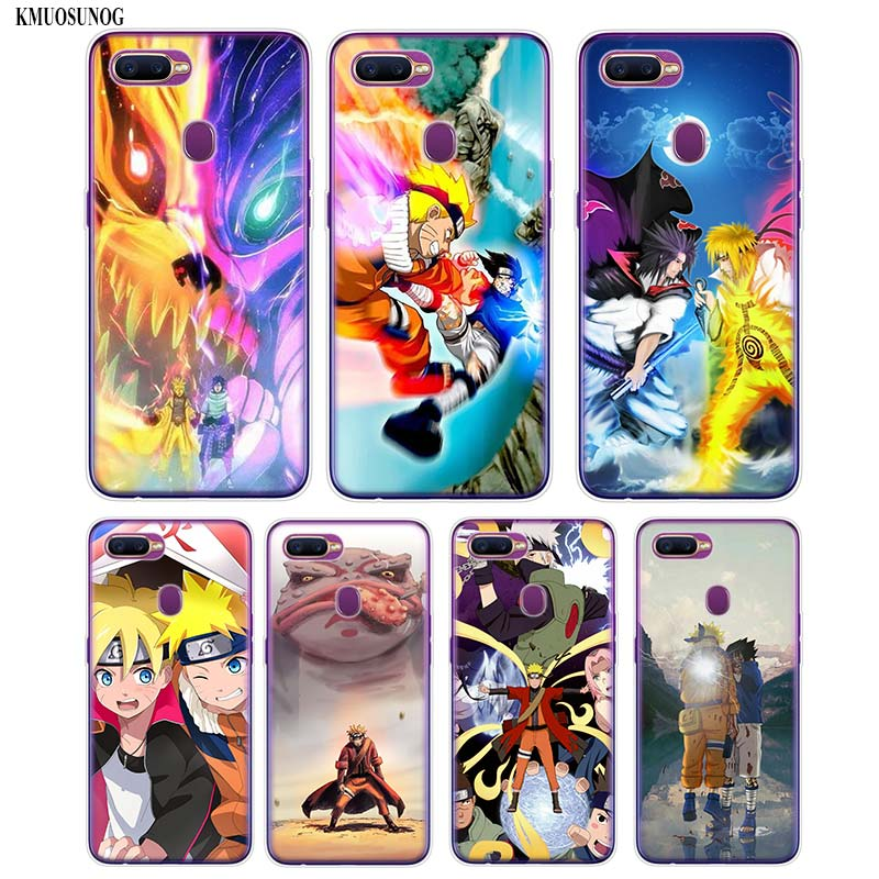 Transparent Soft Silicone Phone Case Naruto vs Sasuke Printing for OPPO F5 F7 A5 Realme 2 A7 R9S R15 R17 Cover