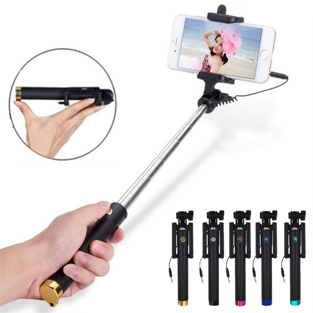 Universal Portable Wired Selfie Stick for Smart Phones