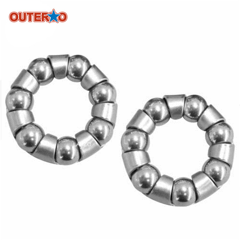 New Arrival 2pcs/Pair 1/4Inch x 7 Ball Bearing Cages Bicycle Rear Wheel Axle MTB Mountain Bike Repair Tool Accessories 2pcs bicycle rear wheel axle ball bearing 1 4 x 7 silver steel mayitr for mtb bike cycle