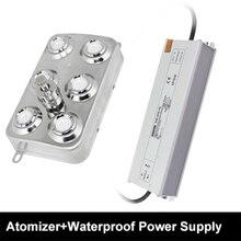 Sanayi 6 kafa Atomizer püskürtücü güç kaynağı ultrasonik nemlendirici parçaları 3L/H