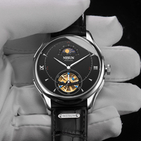 Nesun Tourbillion Automatic Mechanical Skeleton Men's Watches Luxury Brand Watch Men Waterproof relogio masculino clock N9038 4