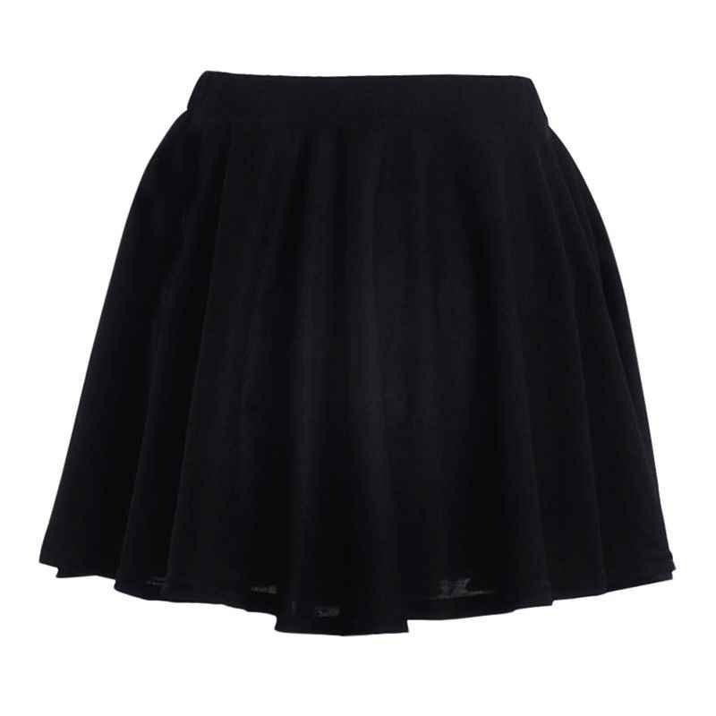 Harajuku jupes solide a-ligne marinière jupe grande taille japonais école uniforme printemps taille haute balle plissée jupes