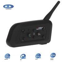 VNETPHONE Interphone Bluetooth Motorcycle Helmet Interphone Headset Intercom V6 1200M Wireless Intercomunicador BT 6 Riders