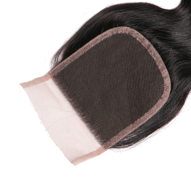Queen like Hair Products Non Remy Human Hair Bundles Brazilian Body Wave Lace Closure With Baby Hair Can Buy 3 or 4