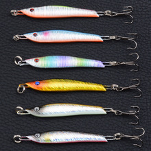 Lead Fish 5.7cm/14.3g 3D Eyes Jigging Metal Spoon Lure Artificial Boat Bait with Hook Sea Fishing Lures Lead Fish LD-1002