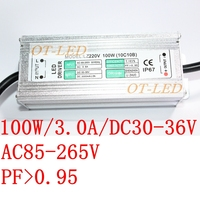 100W IP67 Waterproof LED Power Supply 3000MA 20V 36V LED Driver Adapter Flood Lights Tunnel Light