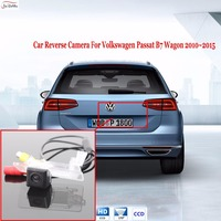 HD CCD Car Rear View Parking Backup Reverse Camera Waterproof License Plate Light OEM For Volkswagen