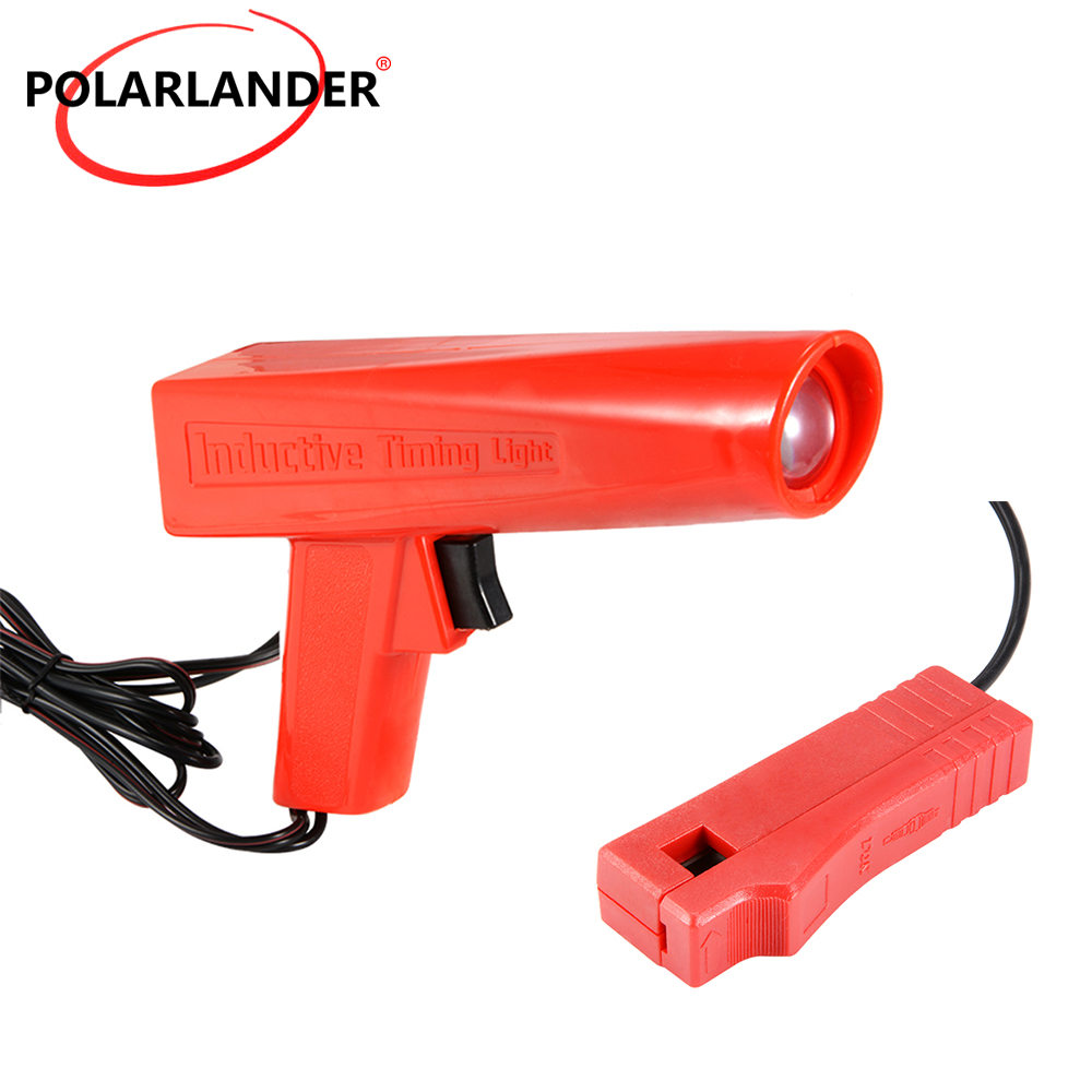 Car diagnostic tool Polarlander professional Ignition Strobe engine inductive timing light car circuit detector import test engine ignition timing light timing gun car and motorcycle repair detection tool