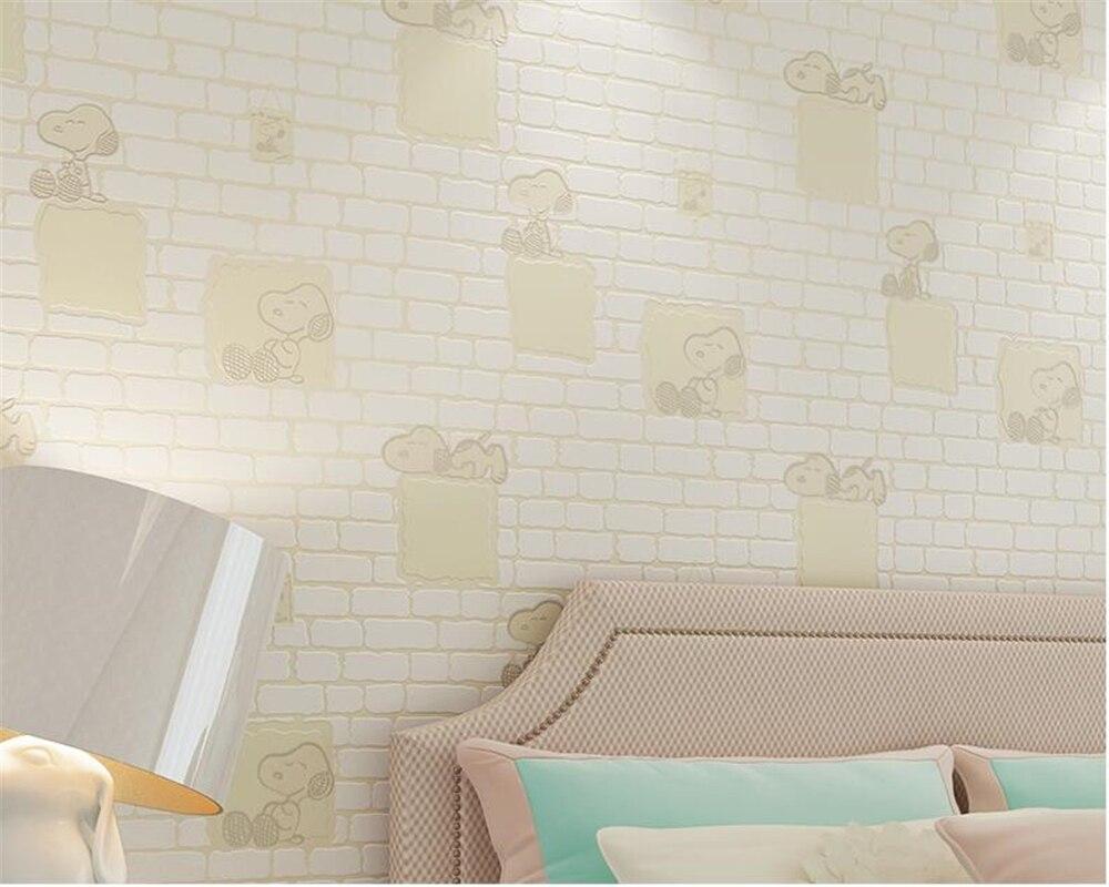 Leuk Behang Slaapkamer : Beibehang leuke cartoon kleine dieren 3d woonkamer de slaapkamer van