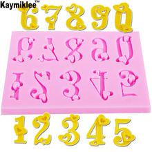 M212 «любящее сердце» номеров 0 9 силиконовые формы для торта