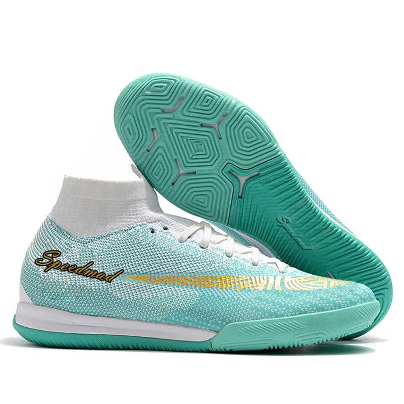 0c6b7e88d Indoor Soccer Shoes Football Boots Men Cheap Superfly VI 12 CR7 Cleats  Chuteira Futsal Chuteira Futebol