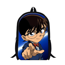 4 brand cartoon anime Detective Conan mens backpacks school bags for teenagers military printing backpack kids backpack