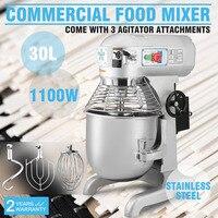 30 L Commerciële Deeg Mixer 1100 W Drie Speed Multifunctionele Zware-in Gereedschapsdelen van Gereedschap op