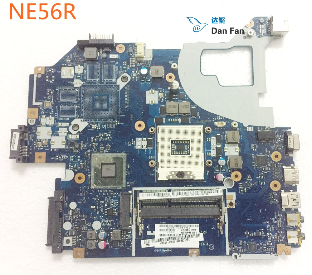 NBC1F11001 BiNFUL For gateway NE56R Laptop Motherboard Q5WVH <font><b>LA</b></font>-<font><b>7912P</b></font> HM70 Mainboard 100%tested fully work image