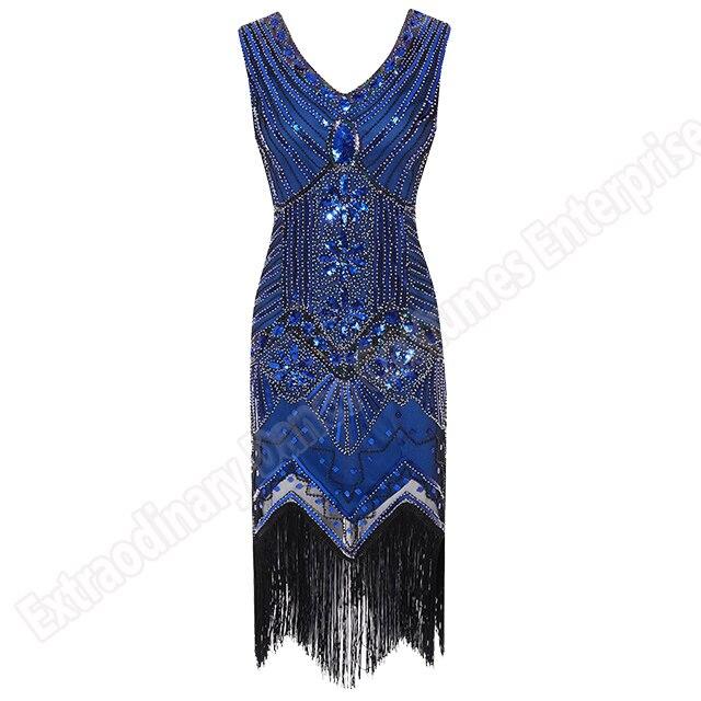 Women 1920 s Vintage Great Gatsby Dress Sequins Dress V-Neck Tassels Bodycon Beaded Party Dress Flapper Dresses Art Deco Double 20