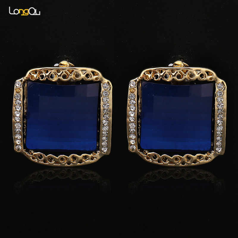 Luxury Vintage Jewellery Sets for Women Earring Necklace Set With Stones Dubai Gold Antique 2018 blue Wedding Turkish Jewelry