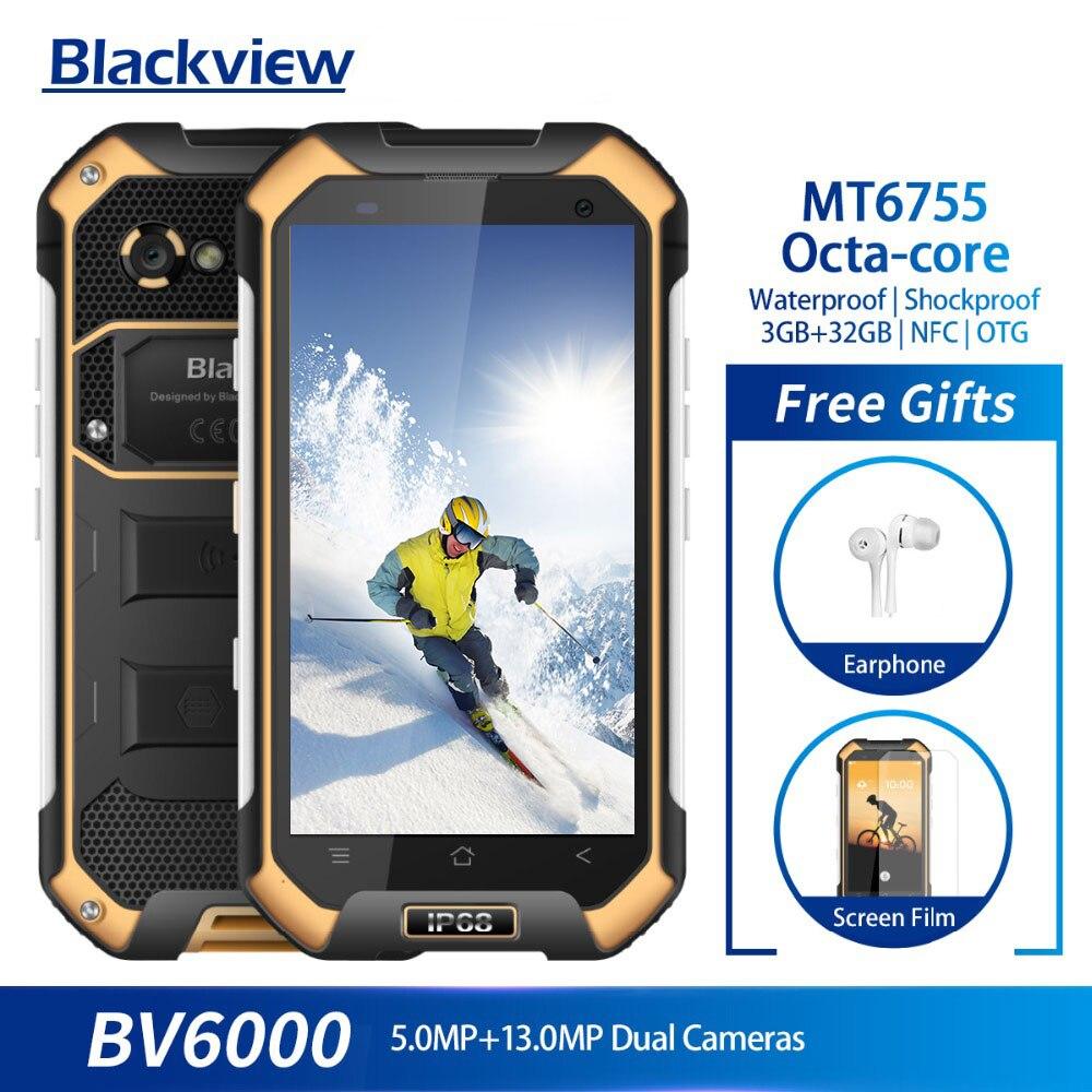 Blackview BV6000 IP68 MT6755 32 3 GB de RAM GB ROM Octa Smartphones À Prova D' Água-core Câmera 13.0MP 4.7 polegada Móvel telefone 4500 mAh Da Bateria