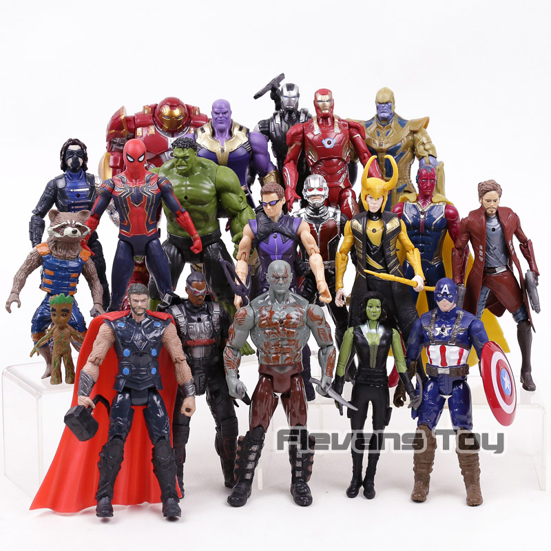 Marvel Avengers 3 infinito guerra película Anime Super Héroes Capitán América Ironman hulk Spiderman thor superhéroe figura de acción de juguete