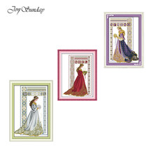 Winter Angel Joy Sunday Cross Stitch Kits Angel Patterns DIY Kit 11CT 14CT Cross Stitch Kits Printed Fabric DMC Embroidery Floss(China)