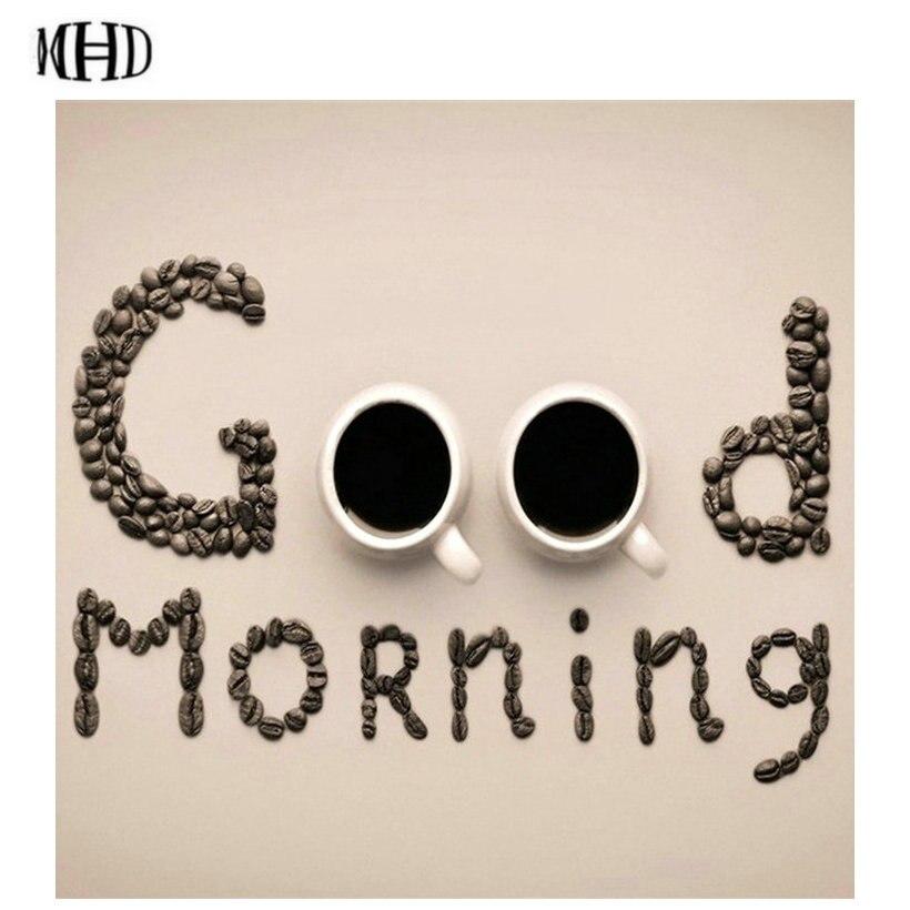 New Coffee Good morning Full & Square & Round Diamond Embroidery Decoration Diamond Painting 5d diy Diamond Cross Stitch Mosaic
