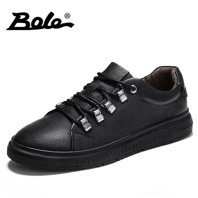 Lacets Cuir Hommes Véritable gris À Imperméable Chaussures Bole Plat Sneakers Noir En Semelle Antidérapante Voleur UpMVqzS