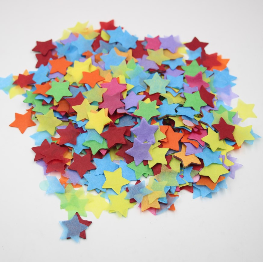 Us 772 8000 Sztukworek Tęczowe Gwiazdki Balon Konfetti Pudełko Wypełnienie ślub Rzucanie Konfetti Papierowe Gwiazdy Dekoracje W Banery