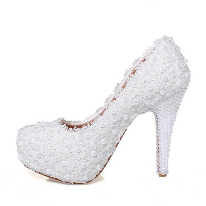34 Mariage Réel Blanc Chaussures Femmes Taoffen Haute Cuir Parti Pompes En Strass Talons D'été 39 Lady De Taille Dentelle 1w4wqT