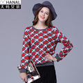 large size women sweaters and pullovers winter new European American women's long sleeve plaid girl pattern sweater pull femme