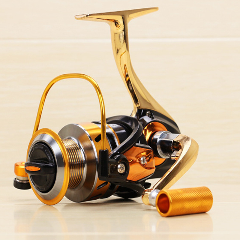 yumoshi carrete de pesca 5.5: 1 engranaje de pesca de metal completo - Pescando