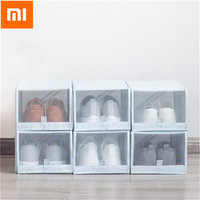 Original Xiaomi Mi Home 2PCS Shoe Storage Box Save Space Tidy Foldable Shoe Organiser Box Storage Bags