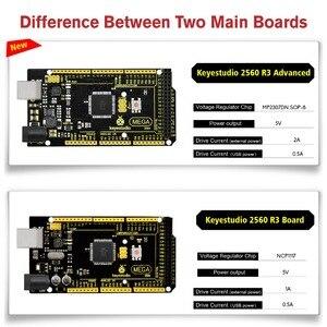 Image 2 - New Keyestudio Super Mega 2560 R3 Advanced  5V 2A MP2307DN SOP 8 +USB Cable For Arduino Mega