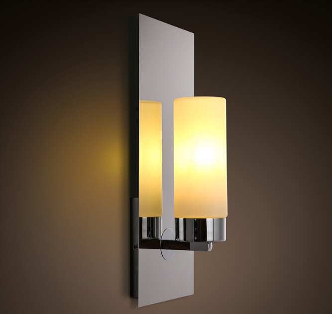 New Chrome Modern Led Wall Lamps Sconces Lights Bathroom Kitchen Wall Mount Lamp Cabinet Fixture Candlestick Candle Wall Sconce