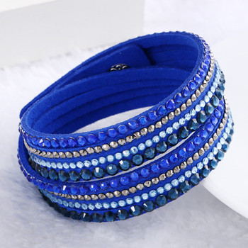Crystal Multi-Layer Wrap Bracelets Bracelets Jewelry New Arrivals Women Jewelry Metal Color: blue