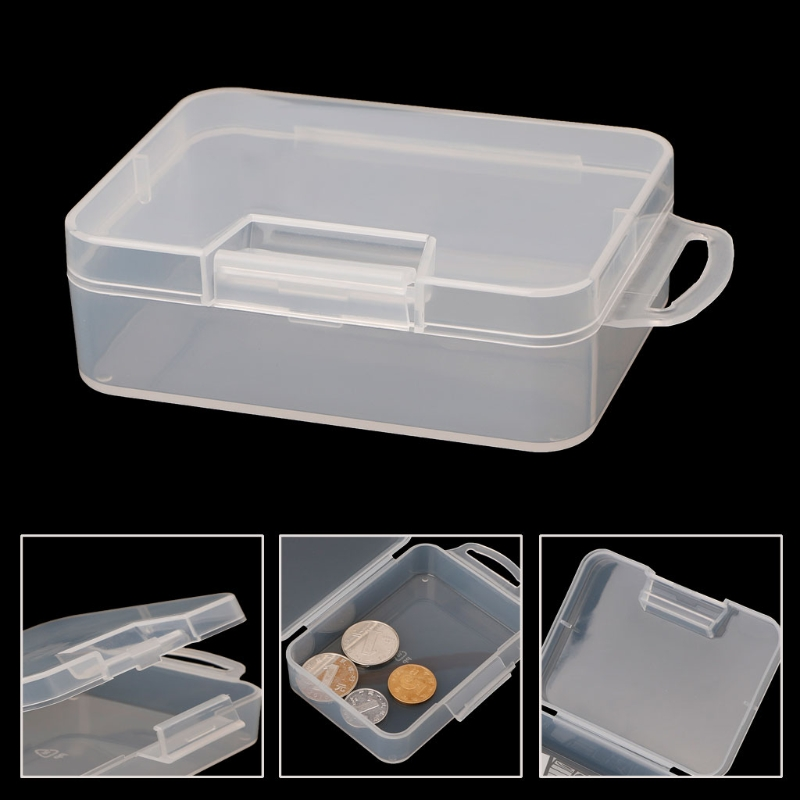 Portable Sundries Hanging Container Clear Square Jewelry Organizer Caixa Organizadora Plastic Storage Box