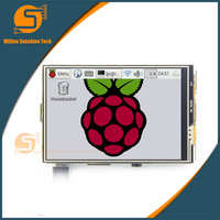 3.5 inç 480*320 TFT lcd ekran ile Dokunmatik Ekran için Lcd ekran RPi1/RPi2/ahududu pi3 Kurulu V3 ücretsiz kargo