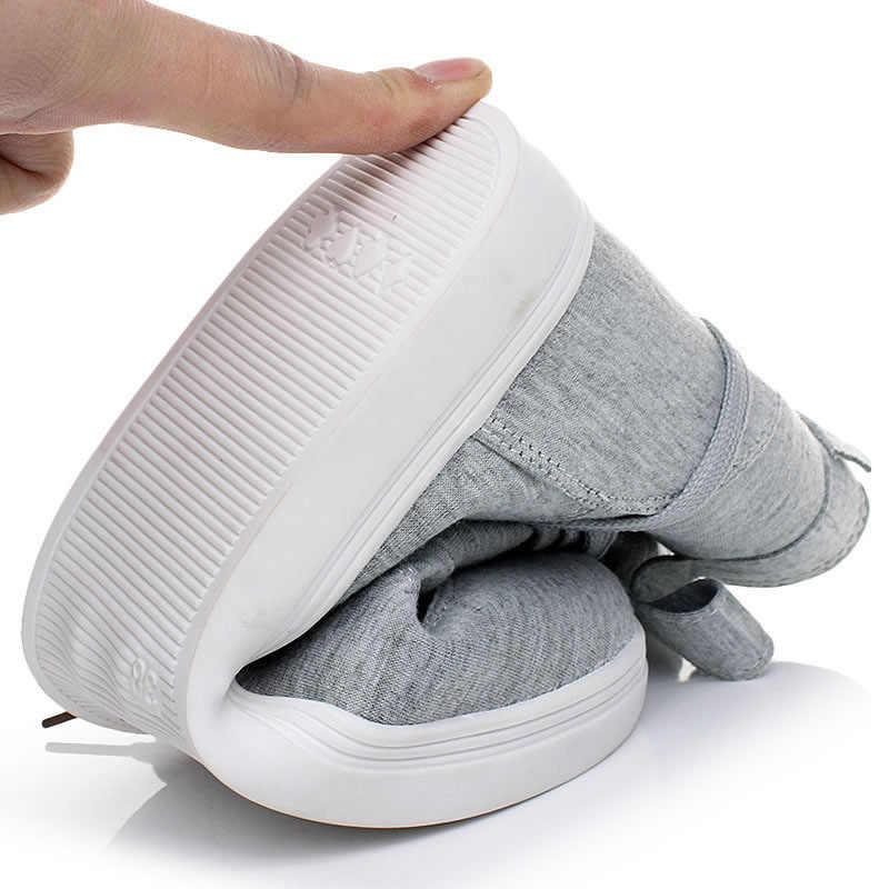 HUANQIU kadın yarım çizmeler 2017 Casual Flats Toka Ile Dantel-up Tasarım Sevimli Katı Moda Kanvas Botlar Ayakkabı PP26
