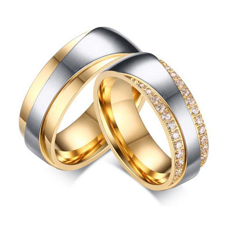 2016 New Couple Ring for Women and Men Love Ring Quality Stainless - Fashion Jewelry - Photo 1