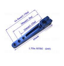 2 unids/lote CNC de aleación de aluminio de la mitad Servo brazo 1,25. 2in Compatible con 23T JR /24T Hitec /25T Futaba Servos envío gratuito