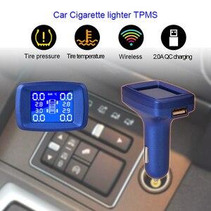 Image 3 - 車のシガーライター TPMS LCD ディスプレイ内部または外部タイヤ空気圧監視システムワイヤレス伝送車の TPMS