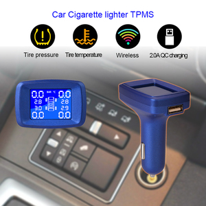 Image 3 - 자동차 시가 라이터 tpms lcd 디스플레이 내부 또는 외부 타이어 압력 모니터링 시스템 무선 전송 자동차 tpms
