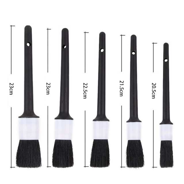 Car Detailing Brush Natural Boar Hair Cleaning Brushes Auto Detail Tools Products 1Pcs Wheels Dashboard Car-Styling Accessories 4