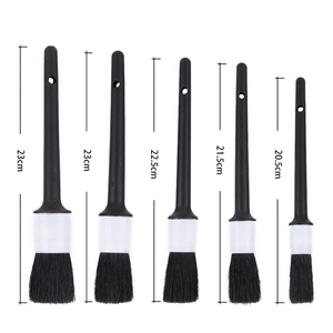 Image 4 - Car Detailing Brush Natural Boar Hair Cleaning Brushes Auto Detail Tools Products 1Pcs Wheels Dashboard Car Styling Accessories