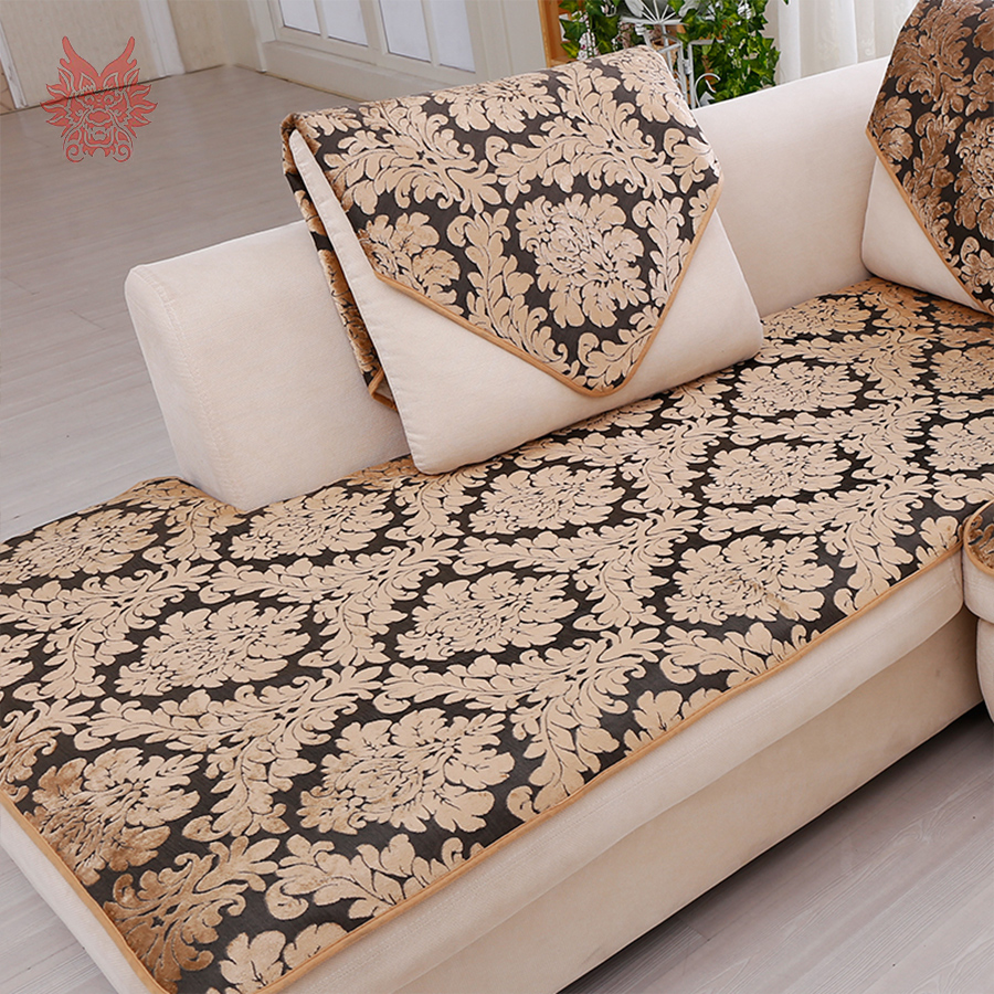 Terrific Us 11 0 45 Off Europe Black Gold Floral Jacquard Terry Cloth Sofa Cover Plush Sectional Slipcovers Furniture Couch Covers Capa Sofa Sp3767 In Sofa Beatyapartments Chair Design Images Beatyapartmentscom