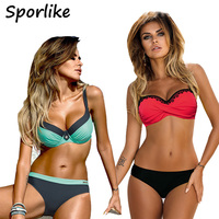 2017 Bikinis Women Summer Low Waist Swimwear Female Sexy Bench Swimsuit Bathing Suit Push Up Biquini